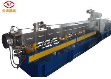 China Horizontal Twin Screw Plastic Extruder Machine For Wood Plastic Composite Material supplier