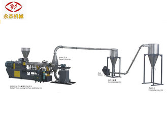 China Hot Cutting Double Screw WPC Extruder Machine 400-500kg/H Capacity Long Span Life supplier