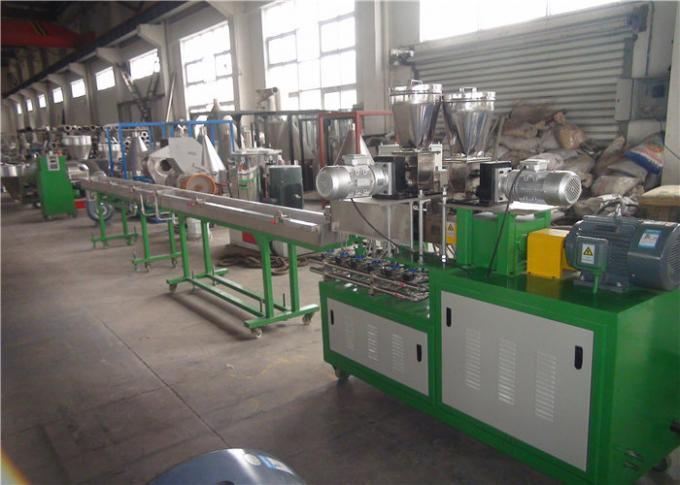 Horizontal Double Screw Polymer Extrusion Machine With Vacuum Venting System