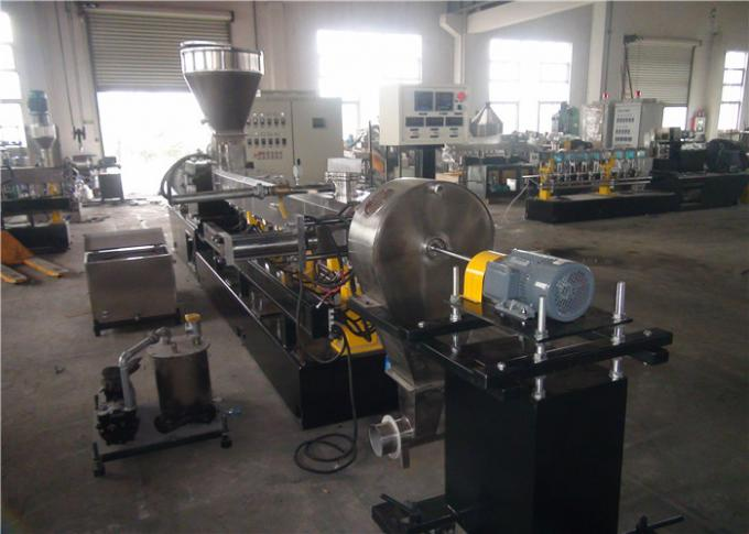 Air Cooling Twin Screw Plastic Extruder , High Speed WPC Extrusion Machine