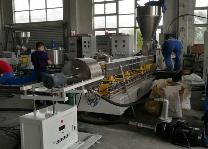 High Output Plastic Granulator Machine , AC Motor Double Screw Extruder Machine