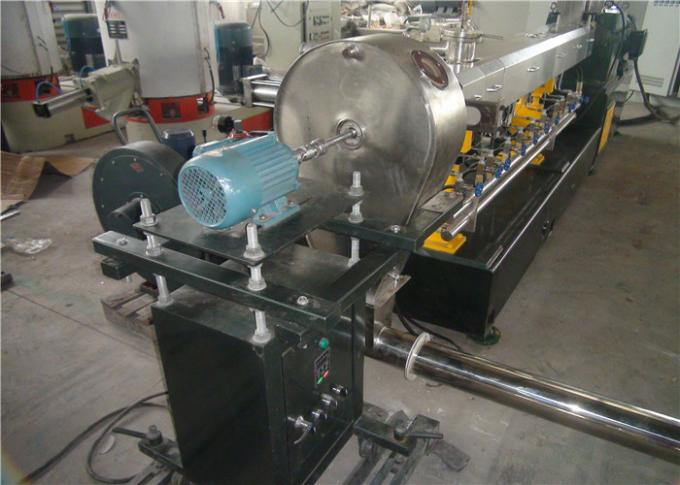 Hot Cutting Double Screw WPC Extruder Machine 400-500kg/H Capacity Long Span Life