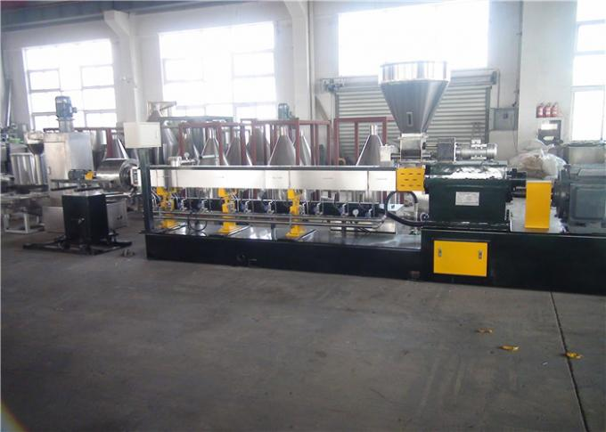 Water Ring Hot Cutting Polymer Extrusion Machine 45#Forged Steel Barrel Material